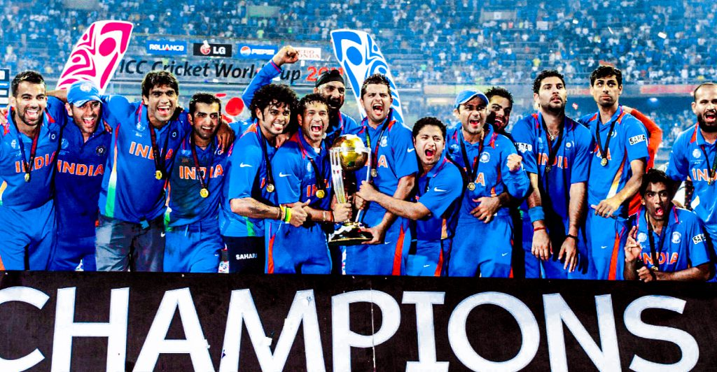 Team India With The Trophy