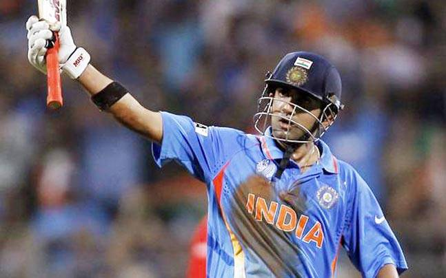 Gambhir After his 50 at the world cup final against Sri Lanka